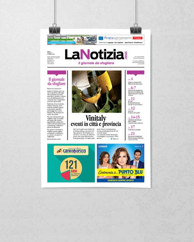 La Notizia, il giornale free press distribuito nel Basso Veronese. La Notizia è il giornale con il maggior numero di copie del basso veronese